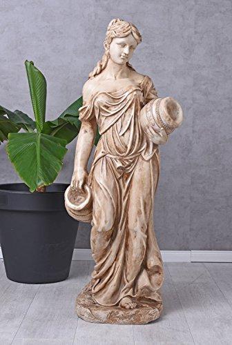 Unbekannt Gartenfigur XXL Frauenfigur Landhausstil...