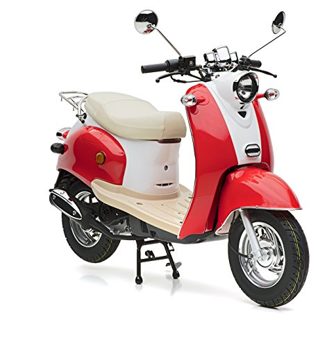 Motorroller Nova Motors Retro Star 50 rot-weiß -...