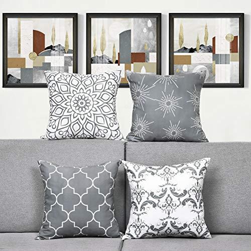 Alishomtll 4er Set Dekorative Kissenbezüge 40 x...