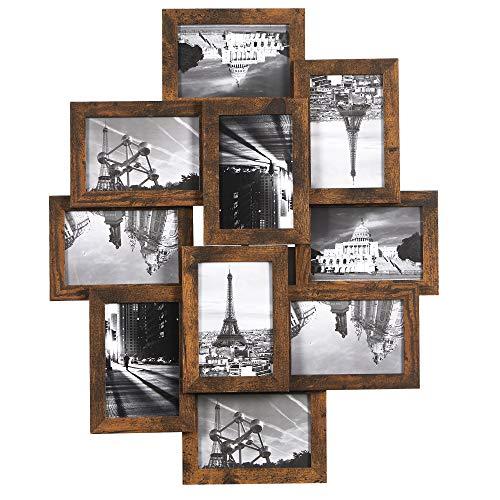SONGMICS Bilderrahmen-Collage, für 10 Fotos je 10...