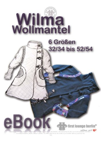 Wilma Wollmantel Nähanleitung mit Schnittmuster...