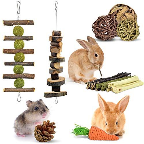 ERKOON Kaninchen Kauspielzeug Hasen 8 Stück...