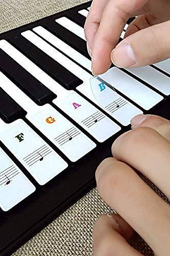 Klavier Keyboard Noten Aufkleber für 37   49   61...