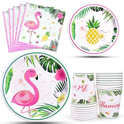 WERNNSAI Flamingo Party Zubehör - Tropische Luau...