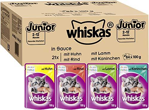 Whiskas Katzenfutter Nassfutter Junior für...
