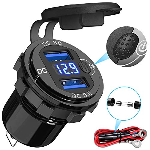 Quick Charge 3.0 USB Steckdose 12V Auto mit...