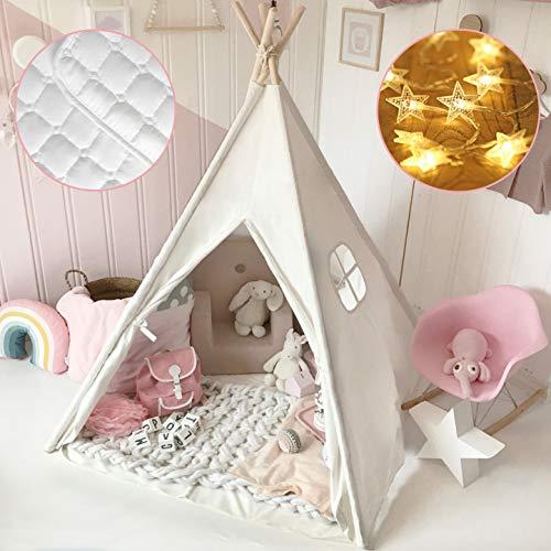 Tiny Land Tipi Spielzelt für Kinder mit Matte &...