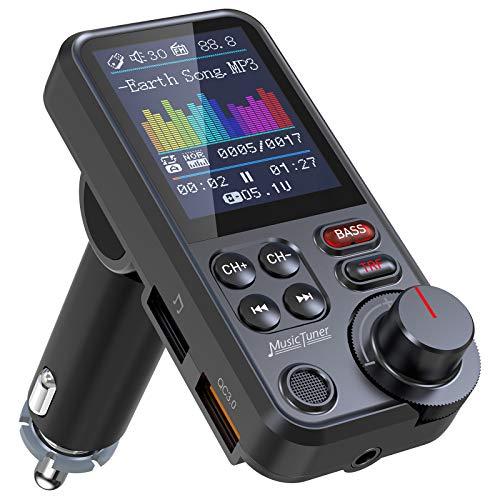 Nulaxy Bluetooth Adapter Auto, Starkes Mikrofon FM...
