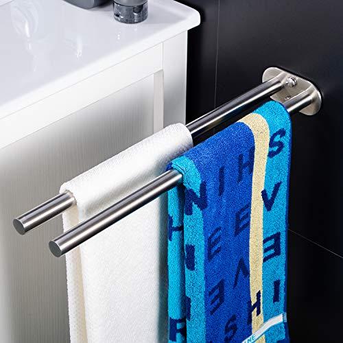 ZUNTO Handtuchhalter Zweiarmig Handtuchstange Bad...
