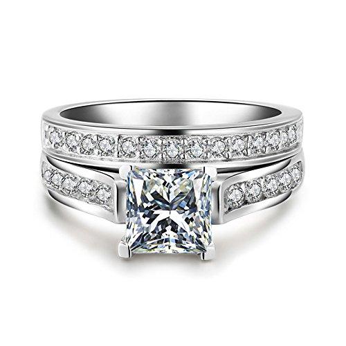YunYoud 2-in-1 Mode Dame Zirkonia Ring Kreative...
