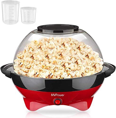 MVPower Popcornmaschine, 800W Popcorn Maker,...