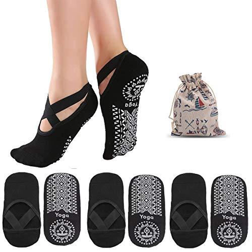 ZITFRI Yoga Socken Damen rutschfest Socke 3 Paar...