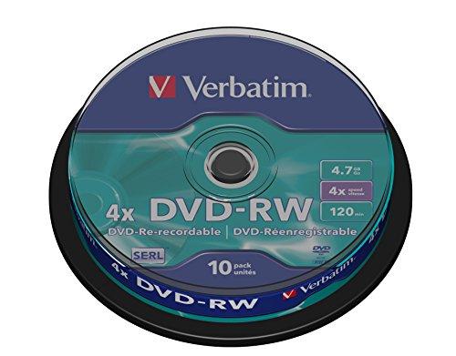 Verbatim DVD-RW 4x Matt Silver 4.7GB I 10er Pack...