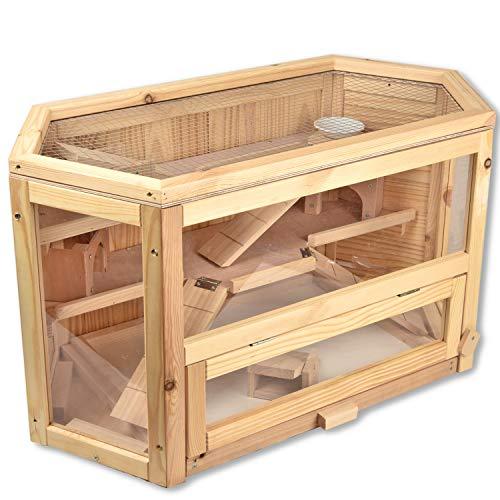 HMH-Shop Hamsterkäfig 6-eckig Nagarium mit...
