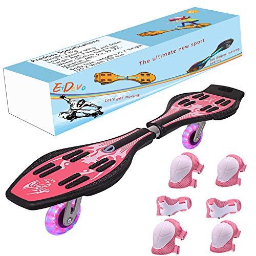 EiDevo Waveboard, Double Wheel Scooter Caster...