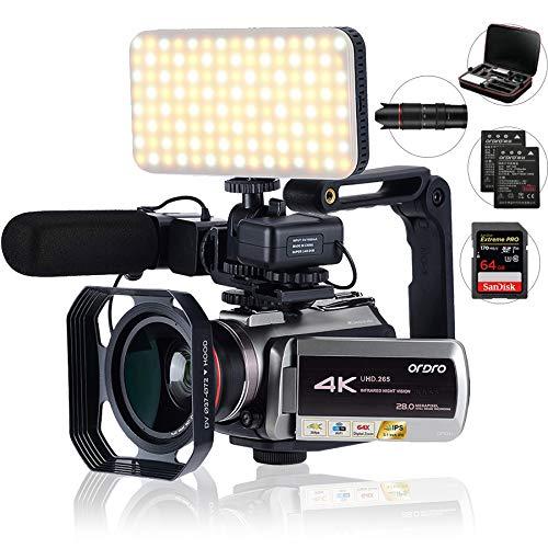 Camcorder 4k,mit 64-fachem Digitalzoom, Verbindung...
