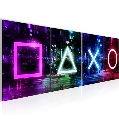 Bilder Set Spielkonsole Gamer Wandbild Wohnzimmer...