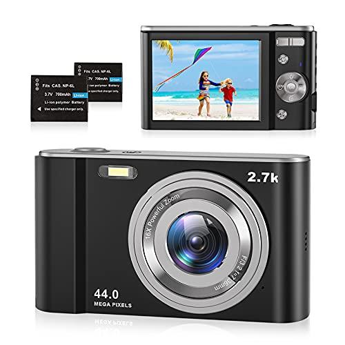 Digitalkamera 2.7K Foto Kamera Digital 44 MP HD...