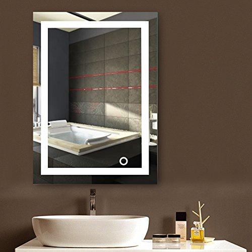 MUPAI Badspiegel mit Beleuchtung,Badezimmerspiegel...