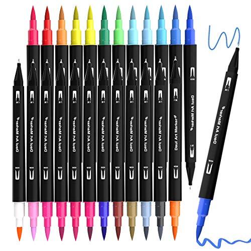 Dual Brush Pen Set, 24 Aquarell Farben...