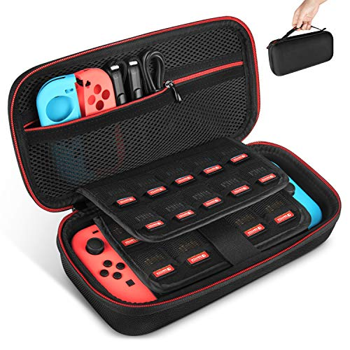 Keten Tasche für Nintendo Switch, Tragetasche...
