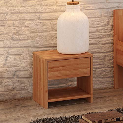Krok Wood Nachttisch Julia aus Massivholz 40x40x40...