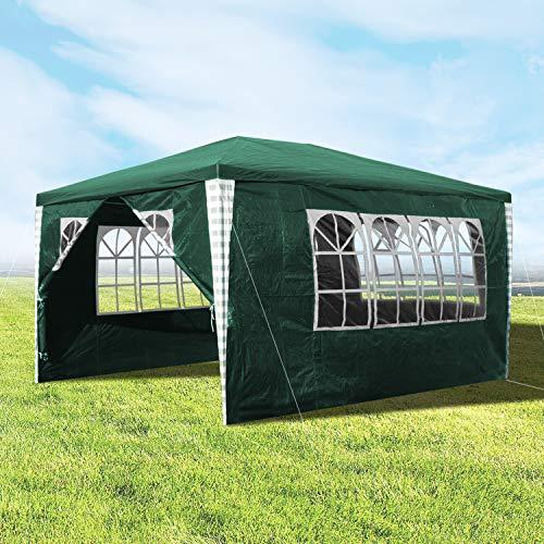 Hengda 3x4m Pavillon, Stabiles Gartenpavillon...