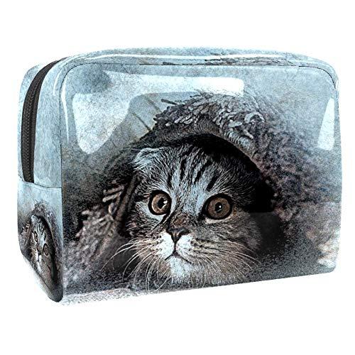 Kleine Make-up Tasche Katzendecke für Geldbeutel...