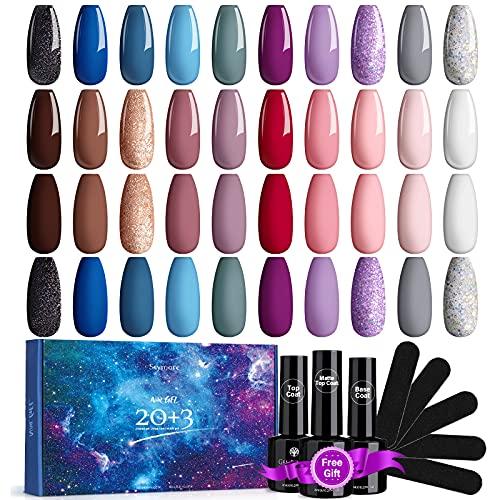 Skymore 23 Stück UV Farbgel Set, UV Nagellack UV...