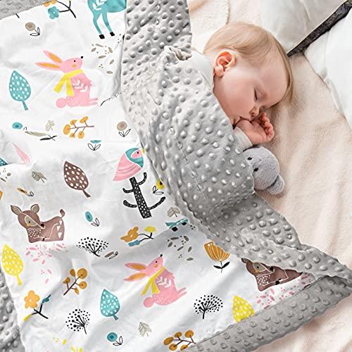 Babydecke 100% Bio Baumwolle, Kinder Kuscheldecke...