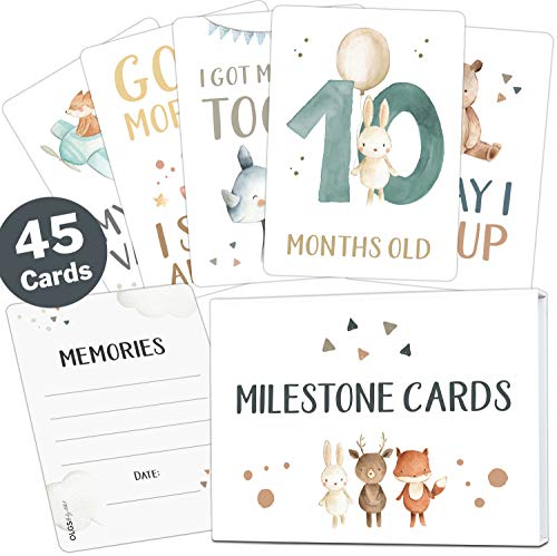 45 Baby milestone cards Lino for boys and girls...