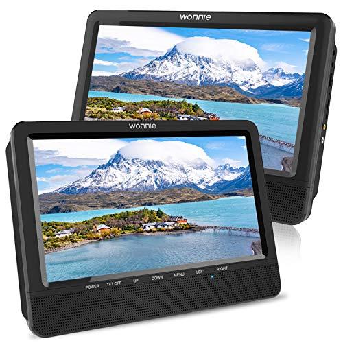 WONNIE 10,5' Tragbare Auto 2 Monitore DVD Player 4...