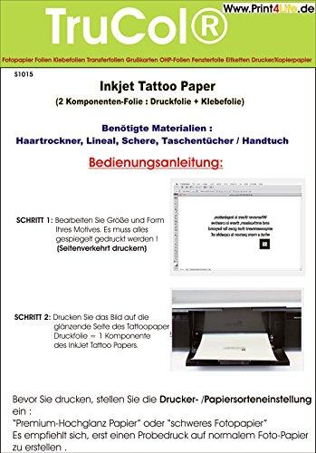 Tattoo – Transferfolie FÜR DIE Haut - zum...
