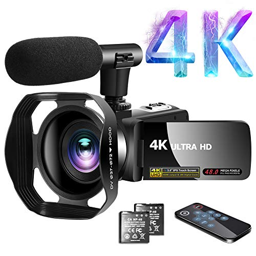 Videokamera 4K Video Camcorder 30.0MP18X Digital...