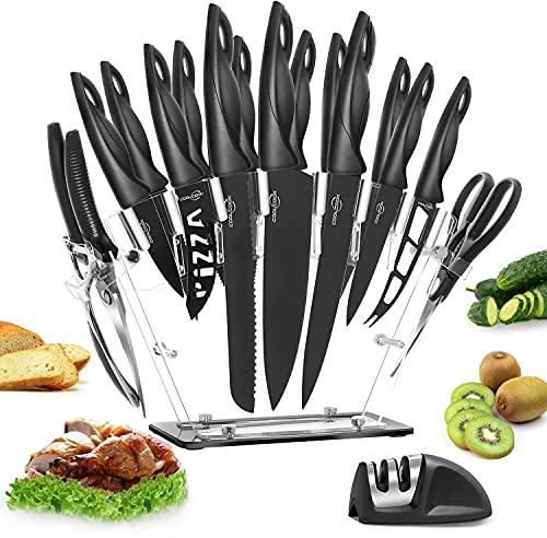 Küchenmesser Set, 18 Stücke Küchenmesser mit...