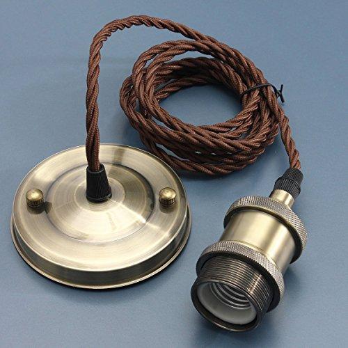 KINGSO E27 Lampenfassung Kupfer Vintage Retro...