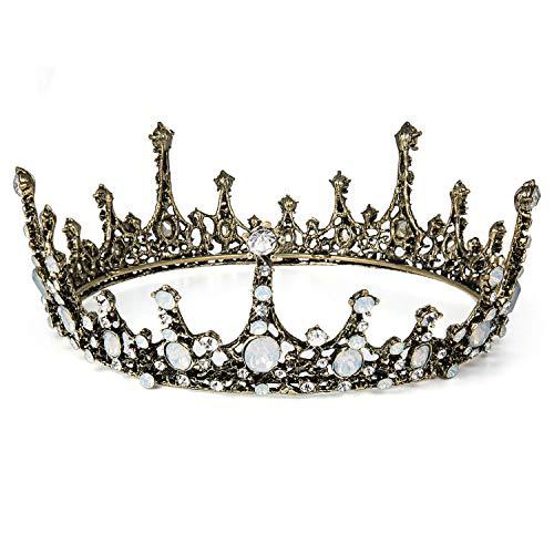 Czemo Prinzessin Diadem Hochzeit Tiara Schwarz...