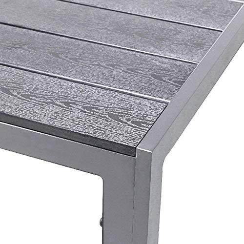 FineHome XL Polywood Gartentisch Aluminium...