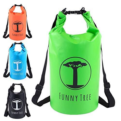 FUNNY TREE® Drybag. (10L grün) Wasserdichter...