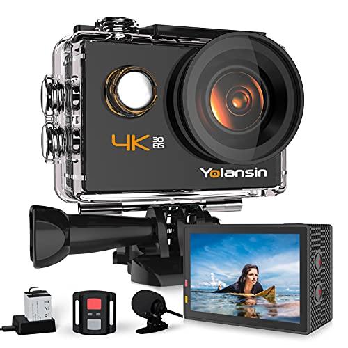 Yolansin Action Cam 4K 20MP WiFi 40M wasserdichte...
