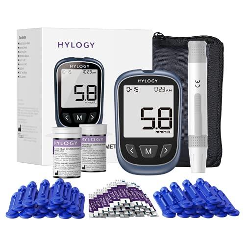 HYLOGY Blutzuckermessgerät, Diabetes-Testkit...