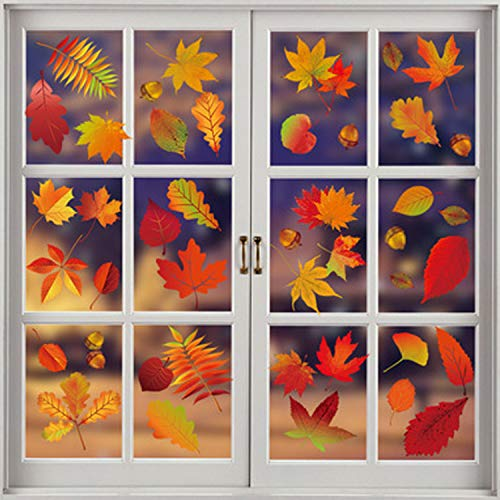 Tuopuda Herbst Blätter Fensteraufkleber 174...