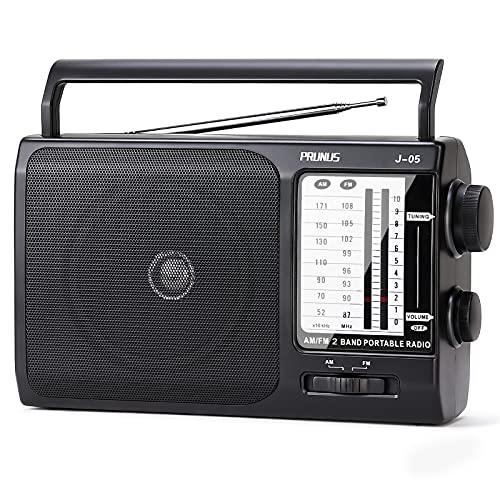 PRUNUS J-05 AM FM Tragbares Radio, Weltempfänger...