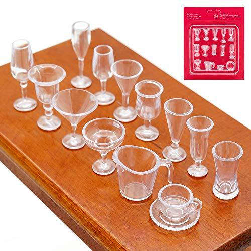 Odoria 1/12 Miniatur 14 Stück Eisschale Eisbecher...