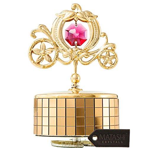 Matashi 24 K vergoldete Spieluhr 'Love Story', 24...