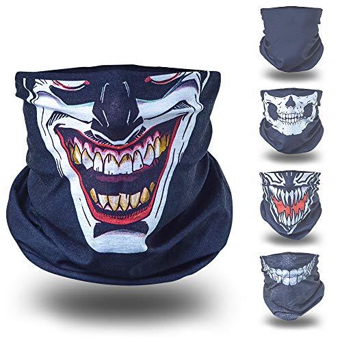 Joker schwarz helloween Verkleidung Gesichtstuch...