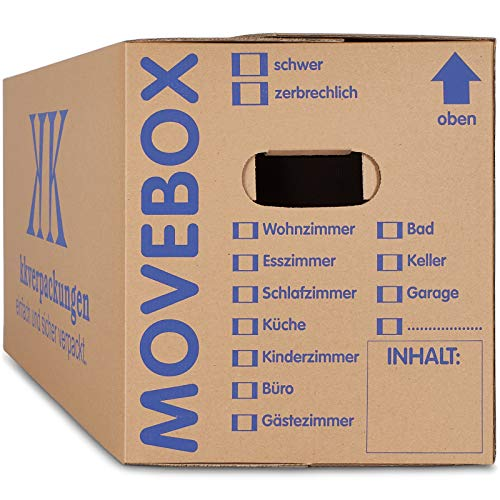 10 x Umzugskartons Movebox 2-wellig doppelter...