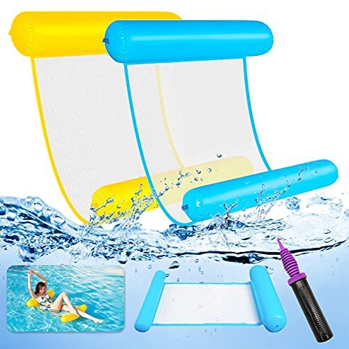 LISOPO 2pcs Luftmatratze Pool Hängematte Pool...