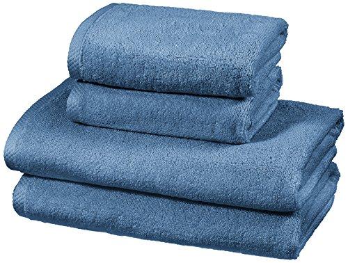 Amazon Basics - Handtuch-Set, schnelltrocknend, 2...
