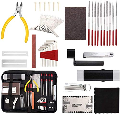 45 stücke Gitarre Reparaturwartung Werkzeug Kit,...